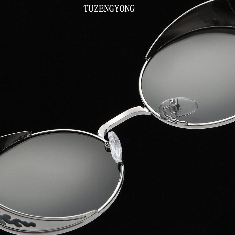 TUZENGYONG Fashion HD Polariserede Solbriller Mænd / Kvinder Rund - Beklædningstilbehør - Foto 5