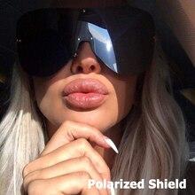 JackJad 2018 Fashion Women Oversized Rimless Shield Style Sunglasses Cool POLARIZED Brand Design Sun Glasses Oculos De Sol 66154