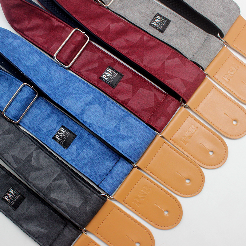 Hot Sales P&P Guitar Strap Breathable Cotton Plus oft Thick Guitar Straps High Quality Guitar Straps GS-023 new high quality professional guitar strap 100
