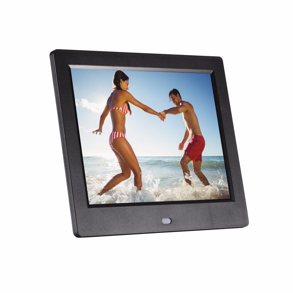 8 pouces 8 pouces cadre photo numérique lecteur publicitaire lecture automatique image vidéo support 720 P de vidéo