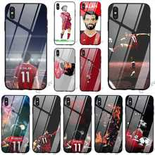 Protective Mohamed Salah Football Tempered Glass Phone Cover for iPhone