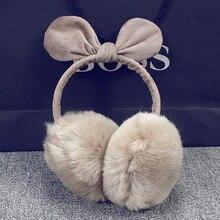girl beautiful earmuffs woman kawai maintain Earrings Women winter beautiful cute ear luggage heat vogue ear cartoon earmuffs imitation fur