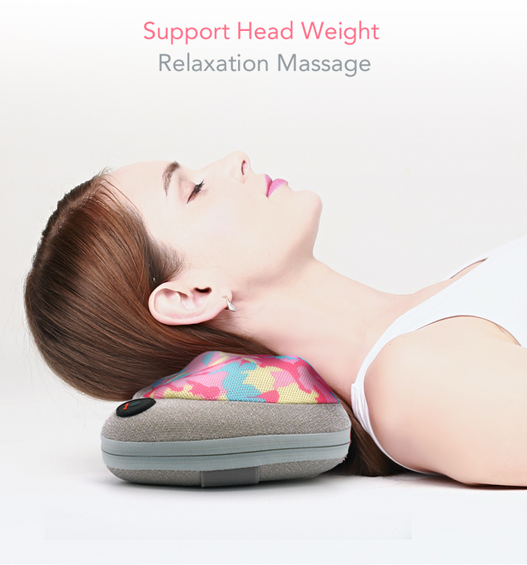 MARESE Electric Cervical Shiatsu Massage Pillow For Shoulder Neck Back Body With Kneading Heating Massager 8