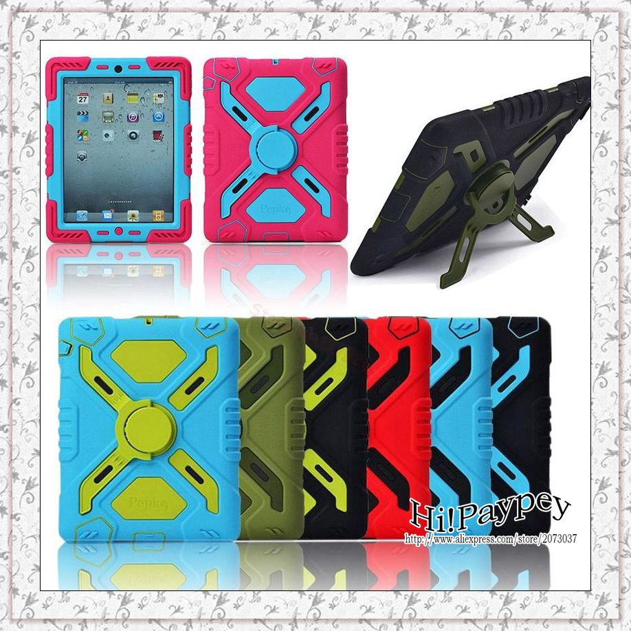 Pepkoo Spider Extreme Military Heavy Duty Waterproof Dust/Shock Proof Cover Case For iPad 2 3 4,For iPad 5 air 1 Free Shipping led driver transformer waterproof switching power supply adapter ac170 260v to dc5v 30w waterproof outdoor ip67 led strip lamp