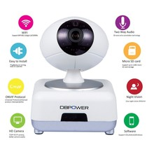 DBPOWER 720P IP Camera Wireless Security Cameras Wifi Baby Monitors 2 Way Audio Motion Detection Built-in Microphone DDNS P2P