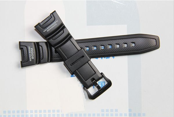 Prix pour D'origine New Mens militaire noir Silicone caoutchouc ardennes sangle pour SGW-100 montre bande