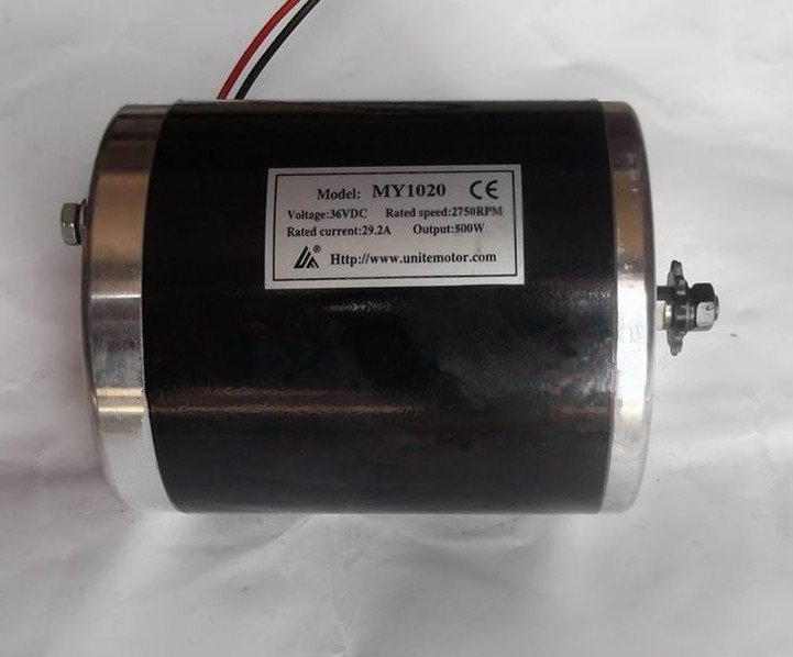цена на MY1020 500W DC 36V ,brush motor electric tricycle , DC high speed brushed motor without Bottom plate, Electric Scooter motor