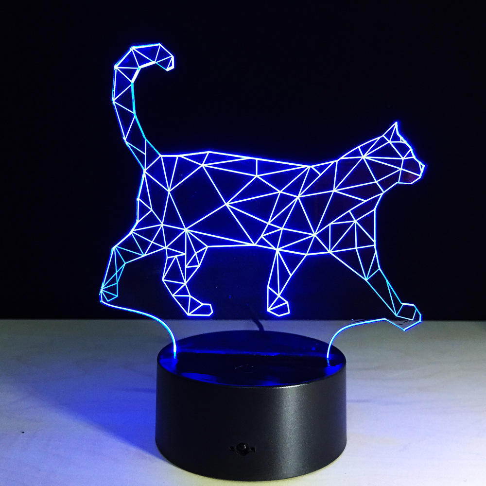 Luzes da Noite o novo curta gato 3d Modelo Número : Led 3d Night Light
