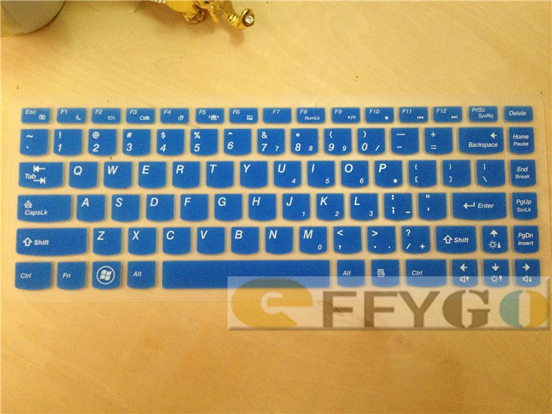 """для компании Lenovo ideapady480, y470 14 """" силикон виртуальной клавиатуры крышка ноутбука наклейки английская версия 30% скидка для 2 шт. бесплатная доставка"""