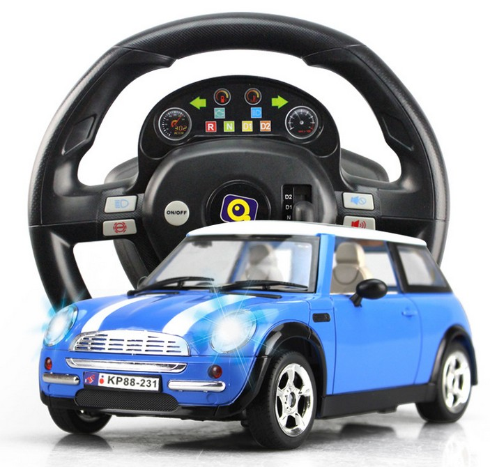 aliexpresscom buy free shipping dynamic steering wheel remote control rc electric car toys for kids 2 kinds of remote control modellamp music gas from