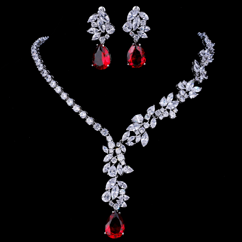 Emmaya New Unique Design Choker Necklace Stud Earrings Bridal Jewelry Sets Wedding Accessories Dropship 4
