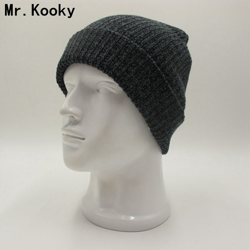 Mr.Kooky Winter Solid Cotton Knit Hats Women's Men's Baggy Beanies Crochet Slouchy Cap Unisex Warm Soft Skullies Toucas Gorros winter casual cotton knit hats for women men baggy beanie hat crochet slouchy oversized ski cap warm skullies toucas gorros 448e