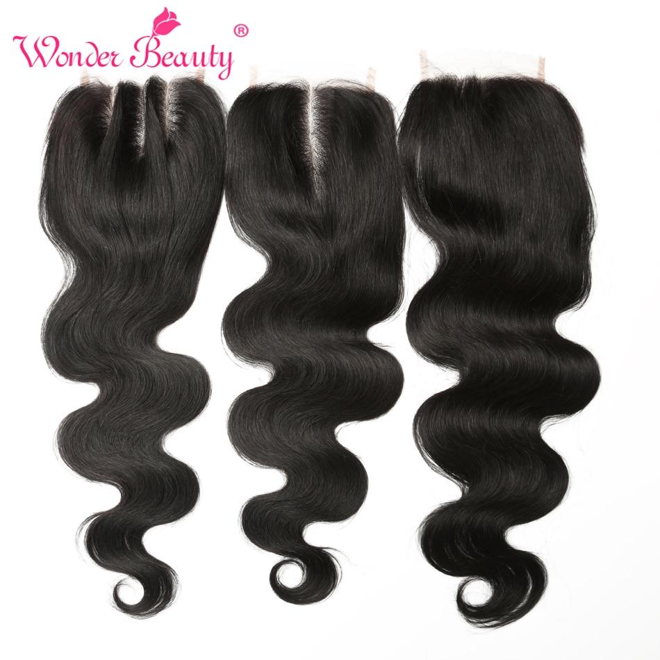 Wonder Beauty Maleisië Body Wave bundel deals niet-remy - Mensenhaar (voor zwart) - Foto 6