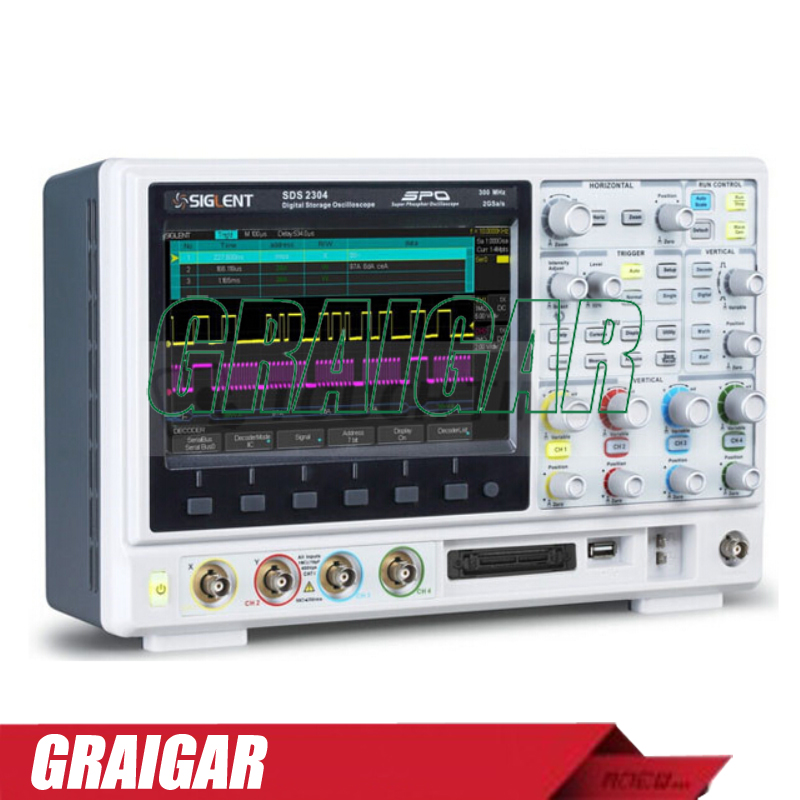 SIGLENT SDS2204 8 inch TFT-LCD 200Mhz 4 Channels SPO Technology Digital Storage Oscilloscope with 28M Memory Depth осциллограф siglent 8 tft lcd 70 2 sds2072 28