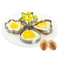 1pc Stainless Steel Egg Mold Creative Shaped Omelette Frying Nonstick Pancake Ring Tools Kitchen Utensils