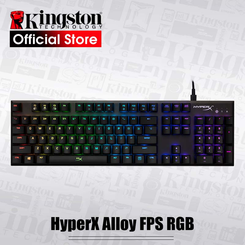 KINGSTON HyperX Alloy FPS RGB E sports keyboard Gaming Keyboard Metal panel mechanical keyboard dynamic effects