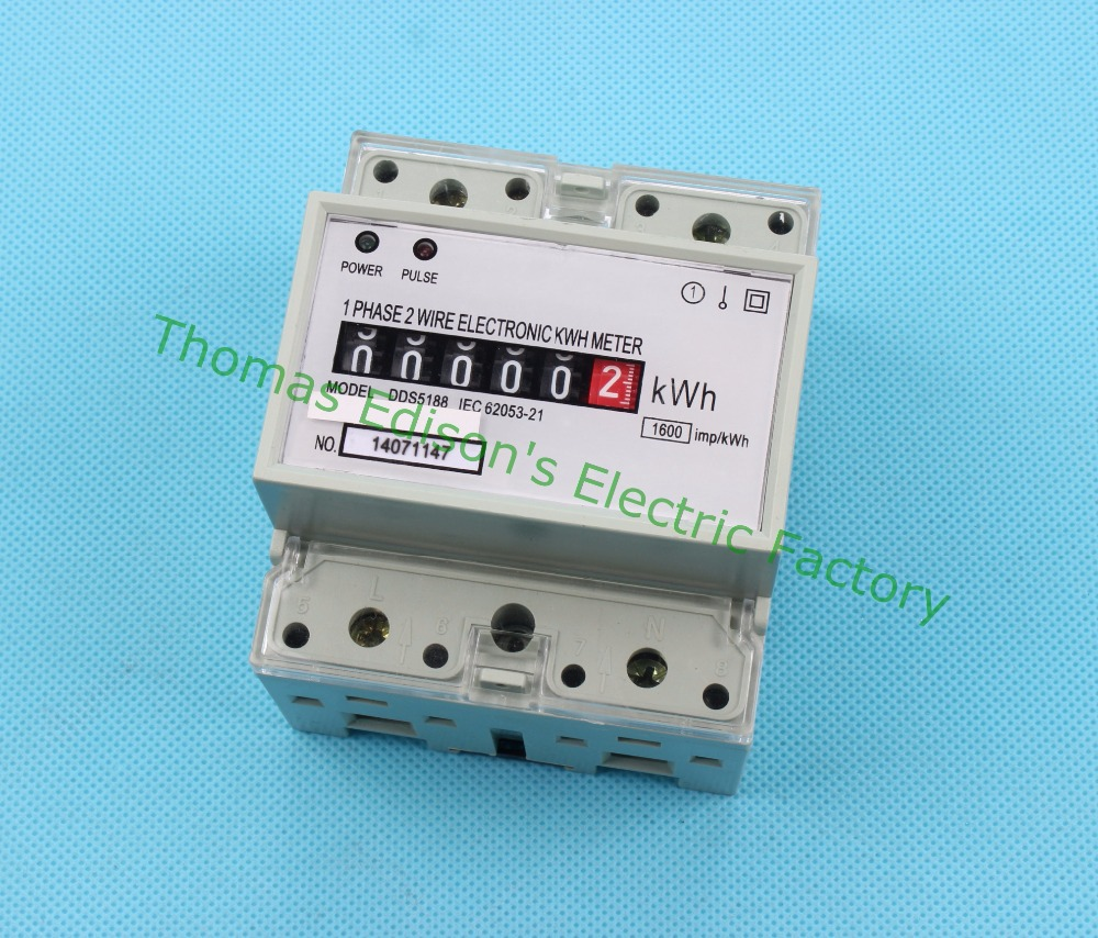 Din rail single phase KWH meter energy meter 10(40) A 50HZ or 60HZ ...