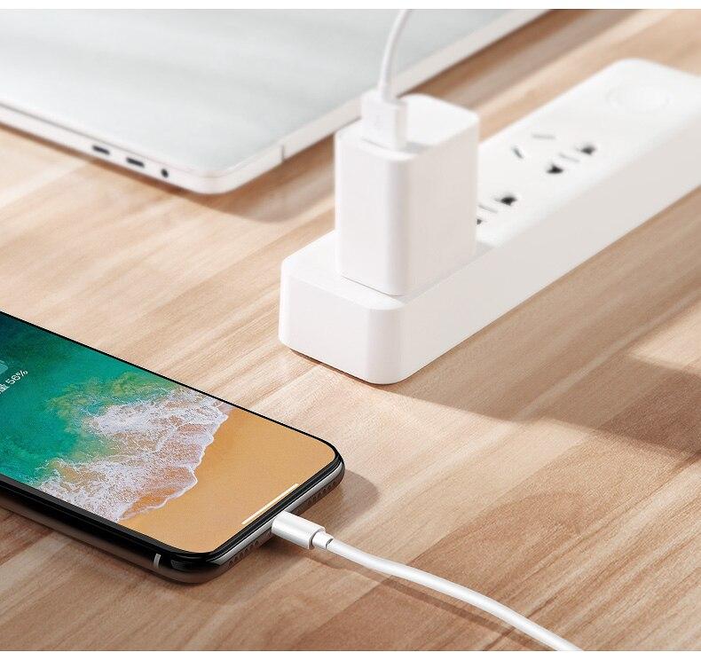 100 cm USB lader for Apple iPhone X XS Max XR 5 5S SE 6 6S 7 8 Plus iPad 4 mini 2 Luftledningsledning 3 meter kabel Gratis frakt