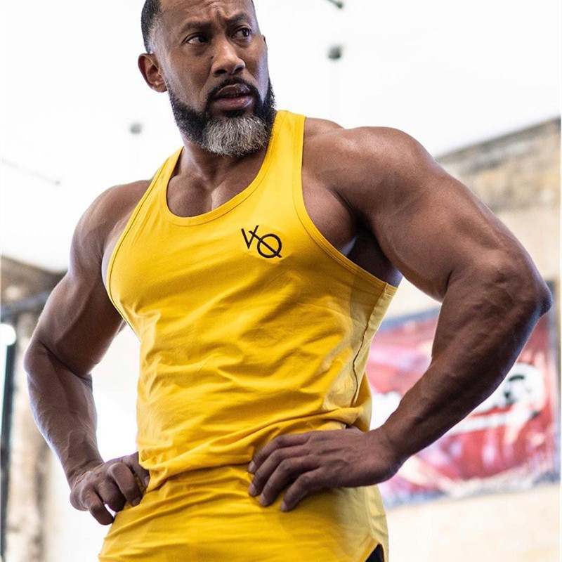2019 Mens Compression   Tank     Tops   Men Mesh Breathable Suits Men's Bodybuilding Fitness Gyms Vest Men See Though Sleeveless Shirt
