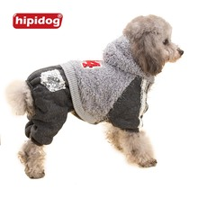 Hipidog Dog Winter Clothes Sequin Pockets Lace Hoodie Coat Jumpsuit Pants Spring Autumn Outwear Overalls for Dogs Pets XS-XXL