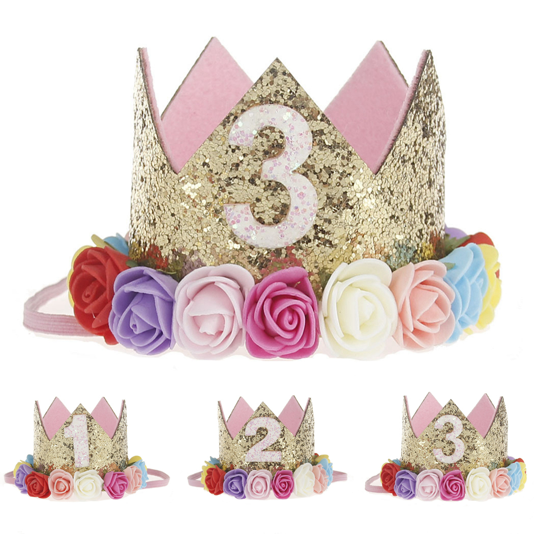 1pc Happy First Birthday Party Hats Decor Cap One Hat Princess Crown 1st 2nd 3rd Year For Pets Dogs Cats Hairband Hot In Dog Caps From Home