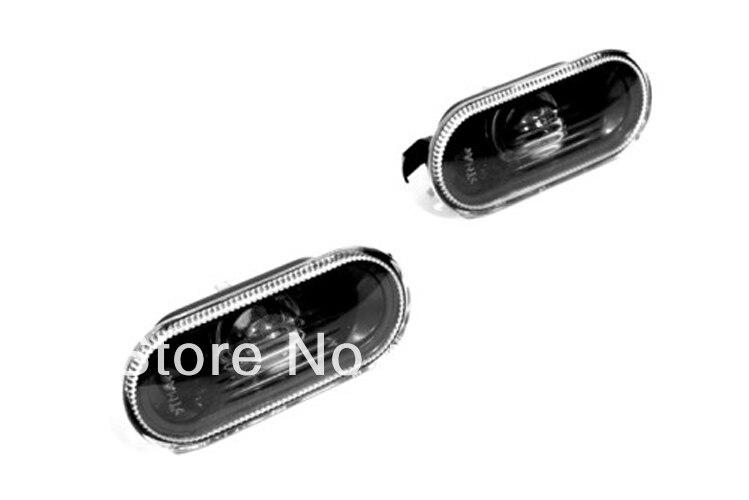 Smoke Side Marker Light Smooth Lens For VW Volkswagen Polo 9N3 clear front bumper side marker light for vw volkswagen jetta bora mk4