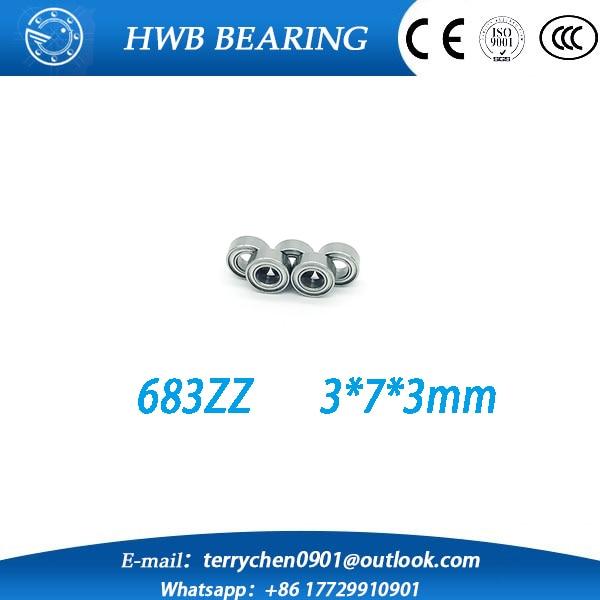 10pcs/lot Free Shipping  683ZZ 683 zz Bearings 3x7x3 mm Miniature Ball Bearings 683 Z L-730ZZ  free shipping 10 pcs 684zz 684z 684 bearings 4x9x4 mm miniature ball bearings l 940zz abec5