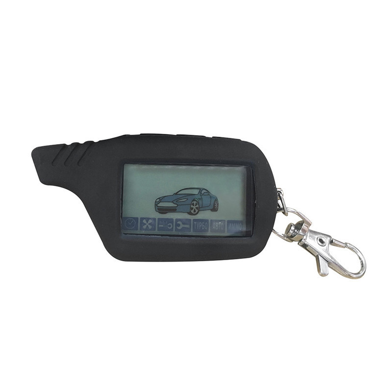 silicone B9/B6 LCD body cover case for original 2 way car alarm for Starline B9/B91/B6/B61/A91/A61/V7 Remote keychain цена