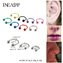 Nose Piercing 2Pcs Earring In The Nose Stainless Steel Nose Rings And Studs Lip Piercing Septum Ring Body Piercing Jewelry цена