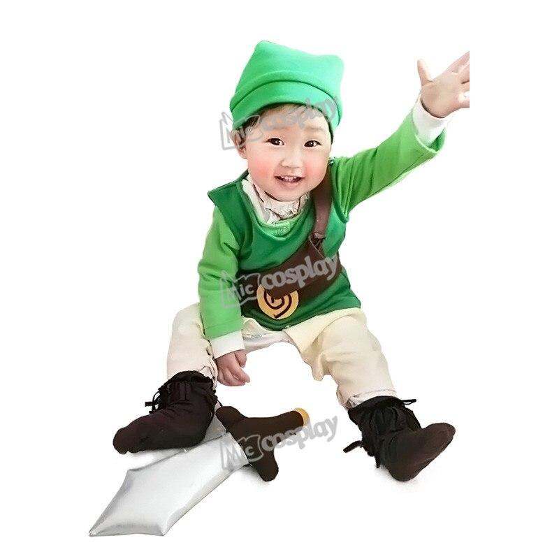 Anime The Legend of Zelda Baby Link Cosplay Costume Halloween Party Clothing