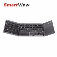 VONTAR Portátil Plegable Teclado Bluetooth Inalámbrico Plegable Recargable Touchpad Teclado para IOS/Android/Windows Tablet ipad