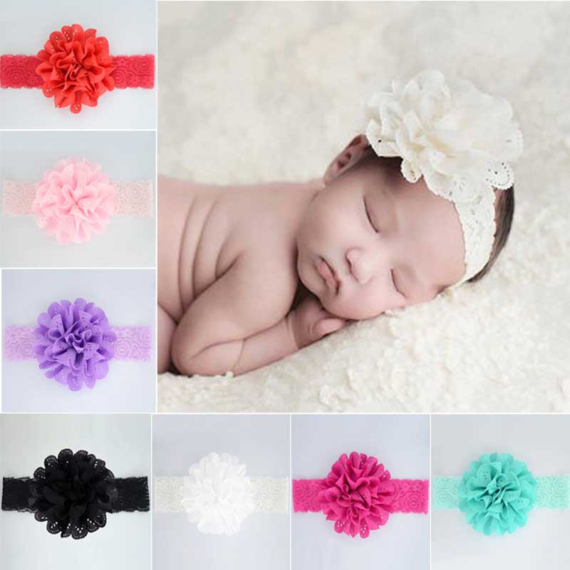 4aafd7f51d39 Rose Ribbon Hair Bands Handmade DIY Headwear Photo Prop 3D Flower Hairband  Kids Child Newborn Baby Girl Headband Satin Accessory