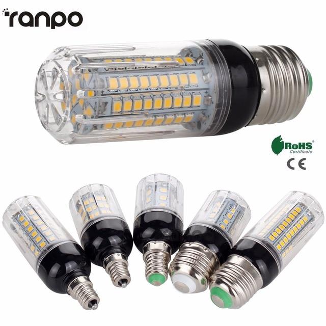 E26 E12 E27 E14 LED Corn Bulb 5W 6W 9W 12W 15W 2835 SMD Light Lamp AC 110V 220V Super Bright  Sportlight For Home Decor Lighting
