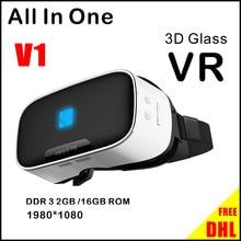 "3D VRทั้งหมดในหนึ่งG Oogleกระดาษแข็งวิดีโอเกมแว่นตาเสมือนจริงกล่องQuad-Core 2กรัม/16กิกะไบต์Wifiบลูทูธ5.5 ""1920*1080หน้าจอ"