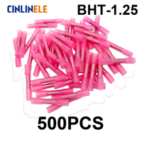 500pcs BHT1 25 Insulated Heat Shrink Butt Wire Electrical Crimp Terminal Connector 22 18AWG