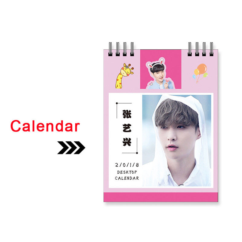 KPOP EXO LAY 2018 Mini Calendar Picture Photo Albu