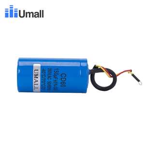 Image 3 - CD60 150UF 250V AC החל קבלים עבור כבד החובה חשמלי מנוע אוויר מדחס אדום צהוב שני חוטים