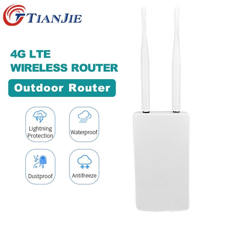 TianJie 4G LTE Modem Wireless AP Router Wi-fi Hotspots Móveis 4G Slot Para cartão SIM Desbloqueado Gateway de Banda Larga Portátil cpe