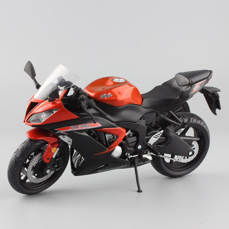 1:12 Scale Mini Kawasaki Ninja ZX-6R Sport Bike Metal Motorcycle Diecast Sport Road Racing Model Collection Car Toy For Children