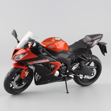 цена на 1:12 scale mini Kawasaki Ninja ZX-6R Sport bike metal Motorcycle diecast sport road racing model collection car toy for children