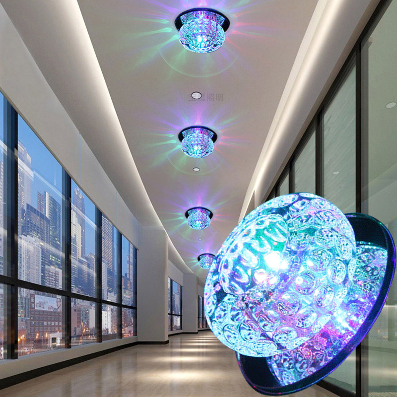LAIMAIK Ceiling Light 3W AC90-260V Modern Crystal Ceiling LED Light Aisle LED Ceiling Lighting for Living Room Free shipping free shipping best selling living room led ceiling light 200mm dia led chandelier