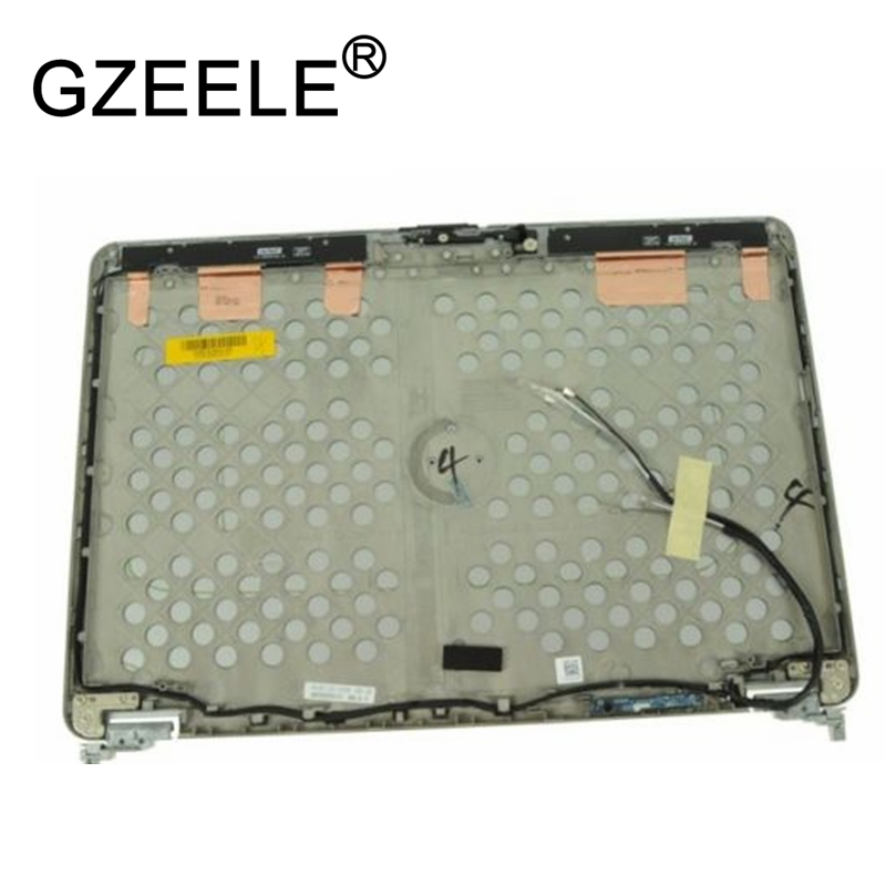 GZEELE Nouveau pour Dell Latitude E6440 LCD top Quatrième de Couverture Assemblée Couvercle avec Charnières M16D4 8 PNOP 0K8X8M argent