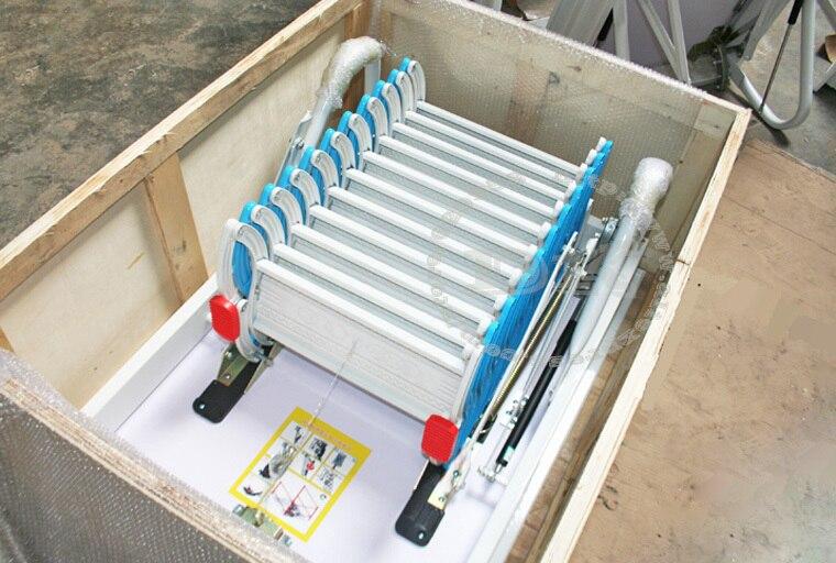 Haushalt aluminium teleskopleiter treppe verdickt dachboden leitern