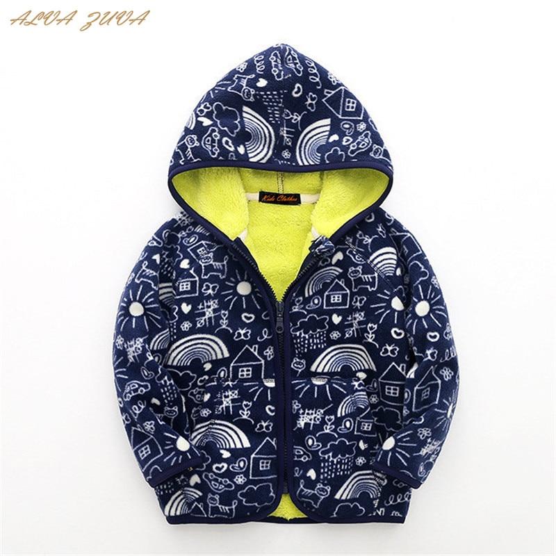 81b8dd3e249b New 2018 Autumn Winter Children Fleece Hoodies Coats Kids Outerwear ...