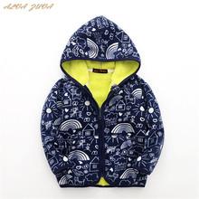 Nowy 2018 jesienno-zimowa dla dzieci bluzy z polaru płaszcze odzież dziecięca odzież wierzchnia kurtki dla niemowląt chłopcy dziewczęta z nadrukiem ciepłe bluzy Cyy280 tanie tanio Octan Poliester COTTON Pełna Drukuj Unisex Moda Pasuje prawda na wymiar weź swój normalny rozmiar REGULAR