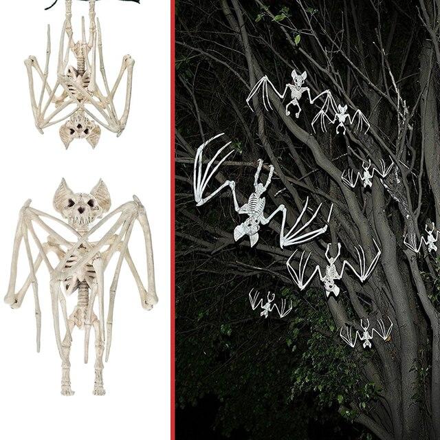 Летучие мыши скелет Хэллоуин вечерние Хэллоуин фестивальные декорации Декор жуткие реалистичные товары для дома