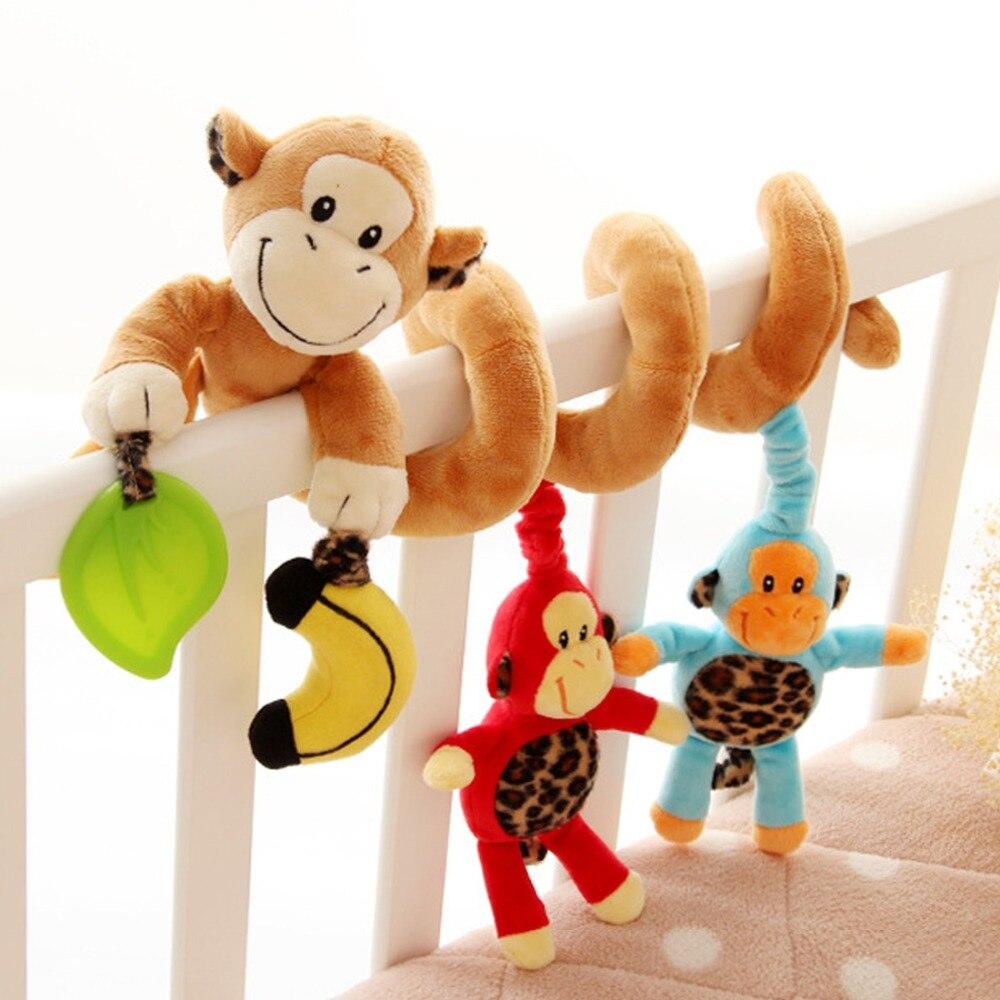 Diseño lindo de la Familia Mono Infantil Espiral Bebé Cochecito de Juguete de Fe
