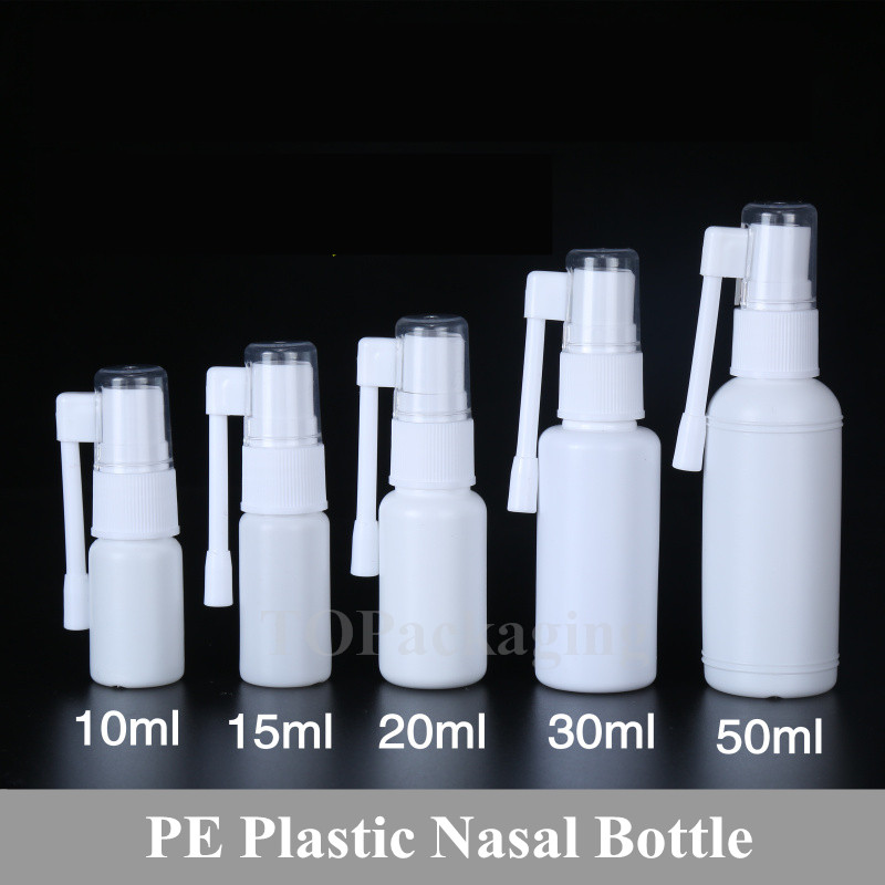 10ml 15ml 20ml 30ml 50ml Empty Plastic Nasal Bottle Small Rotation Mist Spray Bottle Nose Pharmaceutical