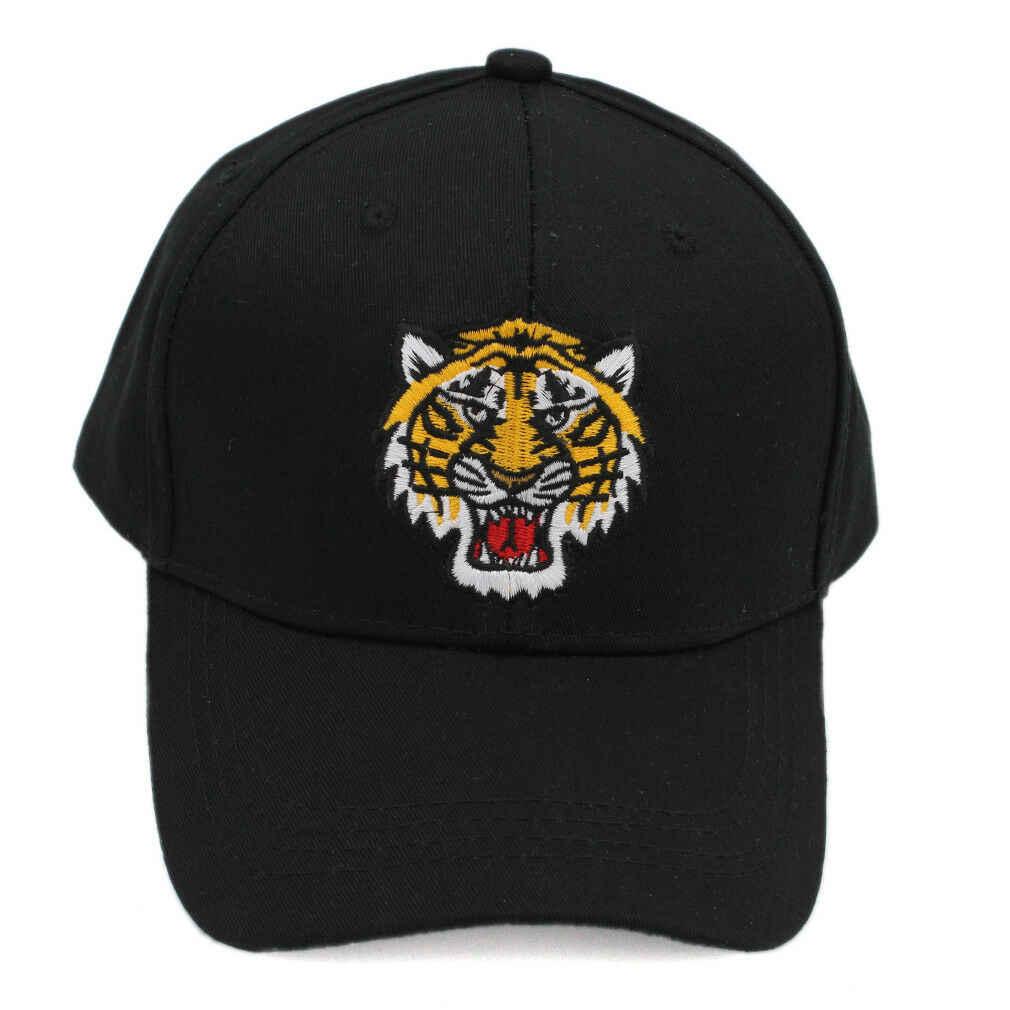 ユニセックスタイガーヘッド野球キャップスナップバック帽子お父さん帽子