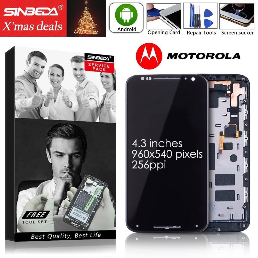 Sinbeda 5.2 Per Motorola moto X2 LCD Display Touch Screen con Cornice Digitizer Per Moto X2 Display XT1092 XT1095 XT1096 XT1097Sinbeda 5.2 Per Motorola moto X2 LCD Display Touch Screen con Cornice Digitizer Per Moto X2 Display XT1092 XT1095 XT1096 XT1097